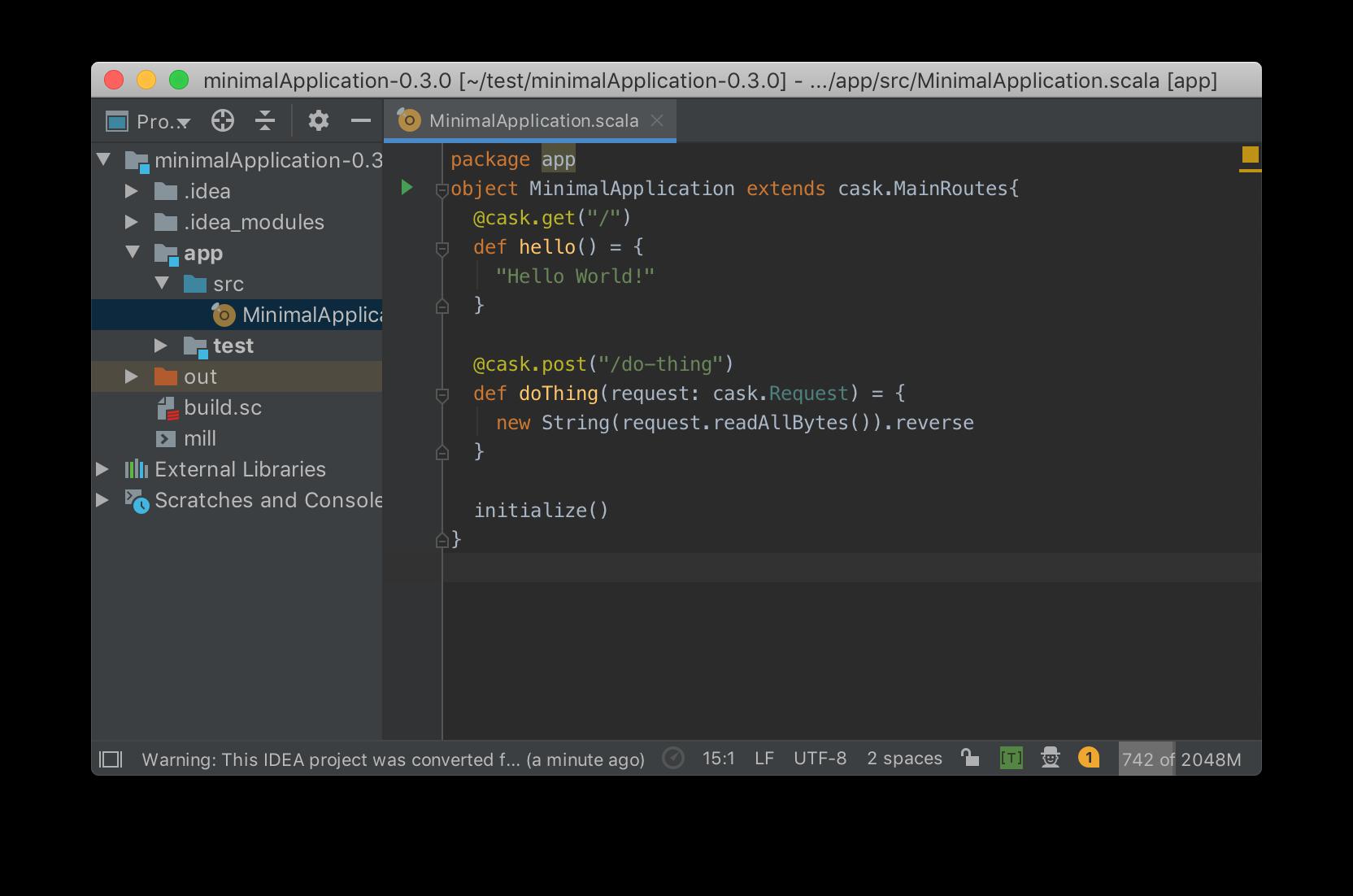 Simple Web and Api Servers with Scala